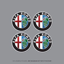 SKU2264 - 4 x Alfa Romeo Alloy Wheel Centre Cap Stickers Badges Car - 60mm