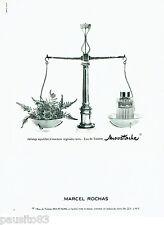 PUBLICITE ADVERTISING 056  1965  Marcel Rochas  eau toilette Moustache
