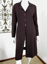 Rickie Freeman TERI JON Knitwear Wool Long Sleeve Cardigan Sweater Size L,Brown