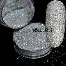 Holographic Laser Silver Nail Body Art Glitter Craft 1/128 0.2mm Powder Dust N32