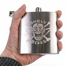 NEW! Surly Bikes Stainless Steel 6oz Hip flask FACE DESIGN wee nip for cold days