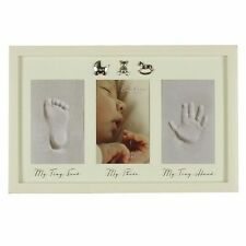 BABY Hand Print & FOOT PRINT GESSO CAST KIT & Photo Frame Baby Regalo cg387