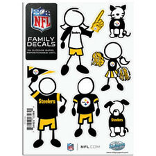Pittsburgh Steelers Family Decals 6 Pack (NEW) Auto Car Stickers Emblems NFL