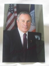 MICHAEL BLOOMBERG Autogramm MAYOR von NEW YORK Foto ORIGINAL signiert in BERLIN