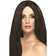 Womens Brown Star Style Wig Long Straight Fashion Fancy Dress Brunette Halloween