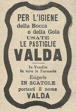 W8119 Pastiglie Valda per l'igiene della bocca - Pubblicità 1930 - Advertising