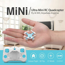 DHD D1 Smallest Drone RC Quadcopter 2.4G 6-Axis 4CH RTF Headless Mode Blue