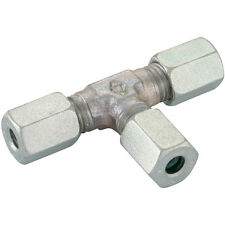 Hydraulic Compression Equal Tee Connector Tube 6mm 6L
