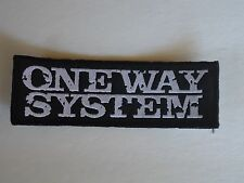 ONE WAY SYSTEM PUNK WOVEN PATCH