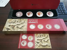 AUSTRALIAN LUNAR SILVER COIN SERIES II 2012 YEAR OF THE DRAGON TYPESET