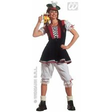 Bavarian Lady Costume Octoberfest Germany Beer Festival Fancy Dress Party Size M