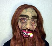 Smoking Cigar Old Man Zombie Monster brown hair Halloween Party Horror mask