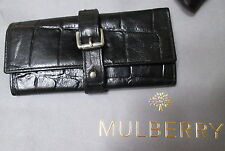 AUTHENTIC VINTAGE MULBERRY BLACK CONGO LEATHER NAIL KIT HOLDER WRAP