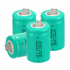 4 pcs Anmas Power 4/5 Sub C SC 1.2V 1400mAh NiCd Rechargeable Batteries ,Green