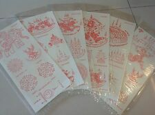 6 Sheet Lot of Temporary Thai Tattoos Stickers,Sexy,Fashion,Body,Arm,Favors,New