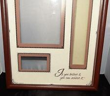 """CURRENT GRADUATION PICTURE PHOTO TASSEL NAME CARD FRAME """"YOU BELIEVE YOU CAN NIB"""