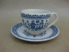 "Vintage Johnson Bros. ""Hearts & Flowers"" Old Granite Cup & Saucer"