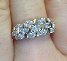 Nice! 1CTW F SI1 Marquis Diamond 14K Yellow Gold Ring Band Size 7.25