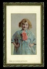 Children young girl Fresh as a Flower Tuck #5777 PPC