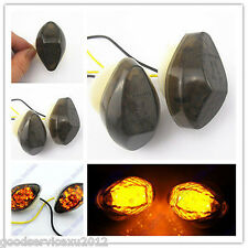 Smoke LED Flush Mount Turn Signals For 1998 1999 2000 2001 Kawasaki ZX 6 R 636