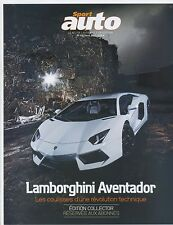 SPORT AUTO n°591 AVRIL 2011  LAMBORGHINI AVENTADOR PORSCHE 911 GT2 RS ALFA 4C