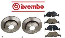 BMW E46 E36 323i 98-00 2 Rear Disk Brake Rotors Disk Brake Pad Kit Brembo Bosch