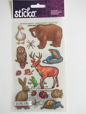STICKO STICKERS - FOREST ANIMALS bear deer