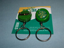 Dr Slick 2 Reels Pin-On O Ring Green Fly Fishing Retractor Reel Zinger RISOG