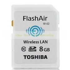 Toshiba SDHC 8GB 8G FlashAir Wi Fi Class 10 C10 Wireless Flash Memory Card New