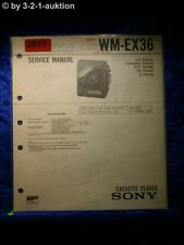 Sony Service Manual WM EX36 Cassette Player (#2071)