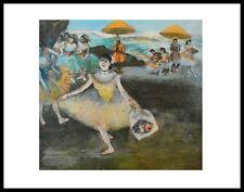 Edgar Degas Tänzerin mit Bouquet Poster Kunstdruck Bild mit Alu Rahmen 56x71cm