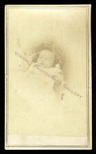 Antique CDV Photo ID'd Baby Ida Morris - Tyler Studio Newport Rhode Island 1864