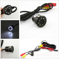 Waterproof 8LED Night Vision Vehicle Reversing Rearview Backup Camera With Drill