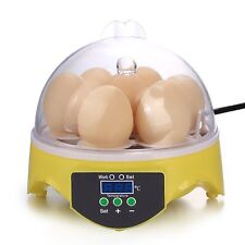 Automatic Clear Digital Chicken Duck Bird 7 Egg Incubator Hatcher Househould New