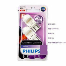 Philips LED Vision ROUGE RED bulb Brake stop Rear light W21/5W T20 7443 7440