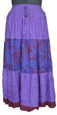 Patchwork Rayon Belly Dance Skirt Boho Gypsy India Womens clothing IDA107