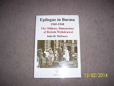 Epilogue in Burma 1945-1948: The Military Dimensions of British Withdrawal