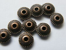Antique Copper Saucer Shaped Beads 8mm x 25 beads
