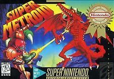 ***SUPER METROID SNES SUPER NINTENDO GAME COSMETIC WEAR~~~