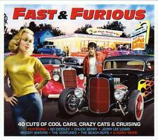FAST & FURIOUS - 40 CUTS OF COOL CARS, CRAZY CATS -  VARIOUS ARTISTS (NEW 2CD)