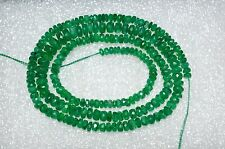 """70 CT+ 3mm*5mm Colombian Natural Of Emerald faceted Rondeles Beads 17"""" Strand A1"""