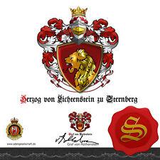 ★Herzog von Lichtenstein zu Sternberg Familie+Wappen+Urkunde+Diplom+Adelstitel ★