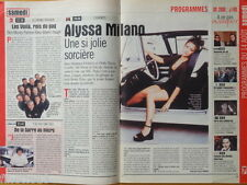 ALYSSA MILANO Charmed Coupure de presse 1,5 pages 1999 - French clipping