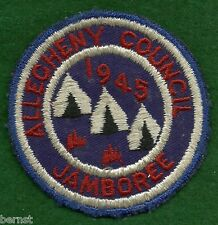 BOY SCOUT PATCH - 1945 - ALLEGHENY COUNCIL JAMBOREE - FREE SHIPPING