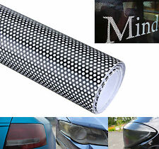 Black Car Window Fly Eye Headlight Vinyl Wrap Spi One Way Vision MOT Legal Tint
