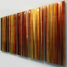 Large Red, Yellow & Orange Contemporary Metal Wall Art Painting by Jon Allen
