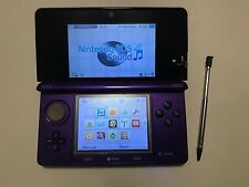 Nintendo 3DS Launch Edition Midnight Purple Handheld System Console 4GB SD