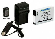 Battery + Charger for Samsung HMX-U100RN HMX-U100EN M100 M310W PL55 PL57 SL720