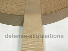 "5 YARDS OF 1"" Inch MilSpec Webbing Binding Ribbon MIL-T-5038 Grosgrain TAN"