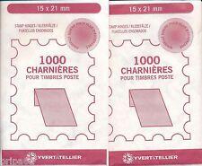 2000 charnières pour timbres poste - 2 paquets de 1000 charnières